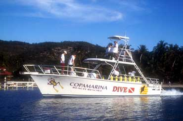 Dive Boat of the Copamarina Beach Resort in Puerto Rico